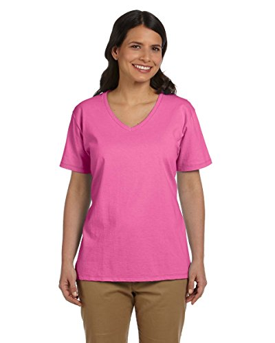 Hanes Women's Relax Fit Jersey V-Neck Tee 5.2 oz (Pack of 1) Size:Large - Clothing In Maryland Outlets