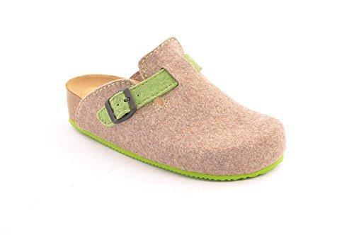 verde Mujer de Zapatos Playa Lira para Piscina y GRUNLAND Taupe Szqa0wg