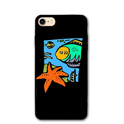Price comparison product image Trendy Dust-proof Sea Animals Starfish Beautiful Fish Healthy Iphone8 Case