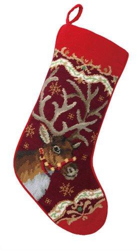 Peking Handicraft 31SJM4511MC Christmas Deer Needlepoint ...