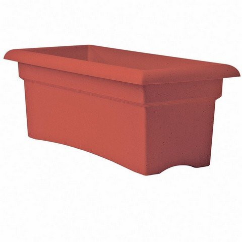 High Country Plastic Cart - Bloem Veranda Terra Cotta Orange Plastic 26-inch Deck Box Planter