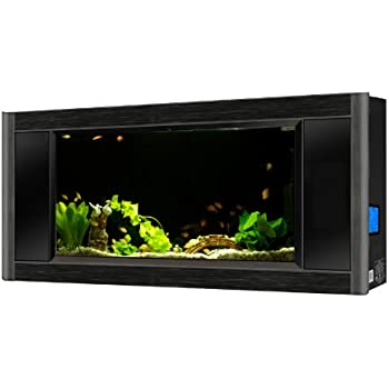 Aquavista Panoramic Wall Aquarium, Black, 6-Feet Wide