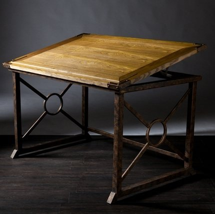 Rosalind Tilt-Top Natural Fir Drafting Table