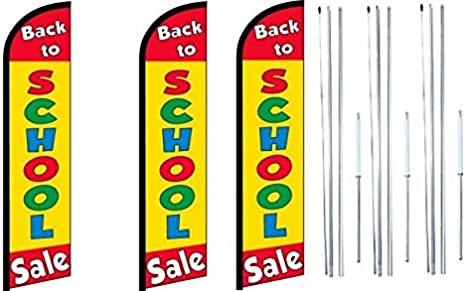 2 Move in Special Windless Flag Sign Kit with Complete Aluminium Pole Set-FI Blue
