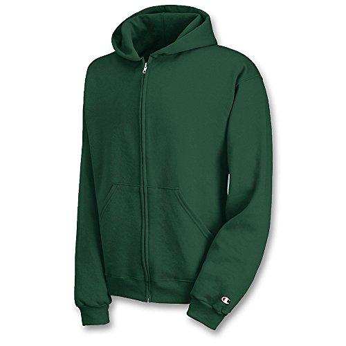 Champion Boys Youth Double Dry Action Fleece Full Zip Hood(S890)-Dark Green-M
