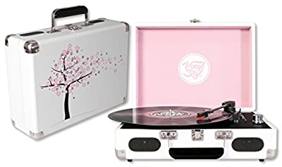 Vinyl Styl Groove Portable 3 Speed Turntable (Cherry Blossom)