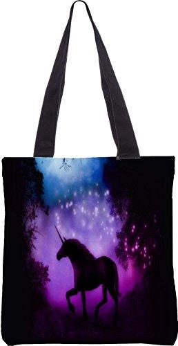 Snoogg Incantato Unicorno 13,5 X 15 Pollici Shopping Bag Tote In Tessuto Di Poliestere