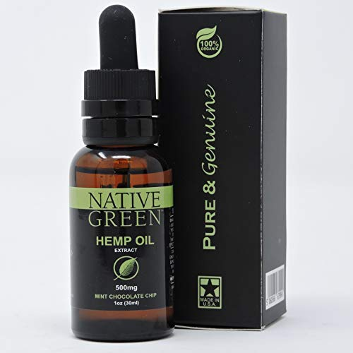 Native-Green-Mint-500mg-Hemp-Oil-for-Pain-Relief-Anxiety-Better-Sleep-Insomnia-Skin-Health-Depression-Stress-Relief-Organically-Grown-and-Made-in-The-USA