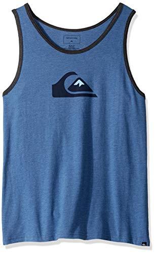Quiksilver Men's COMP Logo TEE, Bijou Blue Heather M
