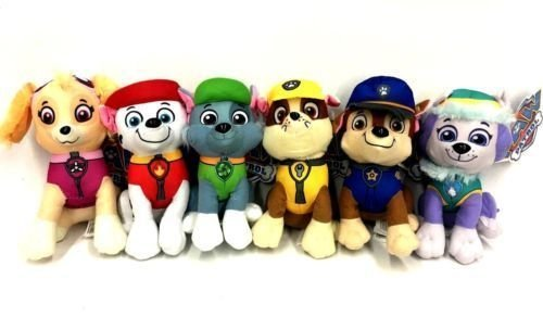 Paw Patrol Plush 6 Pcs Character Plush Set Marshall Chase Rubble Skye Rocky& Everest 8