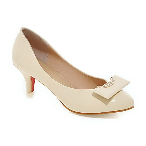 weenfashion-womens-solid-kitten-heels-pull-on-round-closed-toe-pumps-shoes-with-metal-piece-beige-38