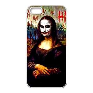 JiHuaiGu (TM) iPhone 4 4s funda Blanco SCREAM Jorker PINTURA tema personalizado iPhone 4 4s funda LD9687