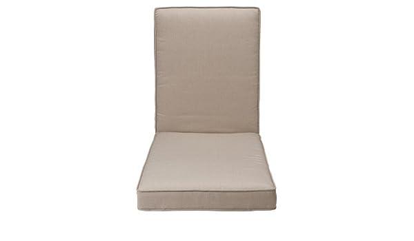 Marvelous Amazon Com Rolston Outdoor Chaise Lounge Cushion Beige Creativecarmelina Interior Chair Design Creativecarmelinacom
