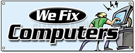 Computer Repair Economy A-Frame Sign