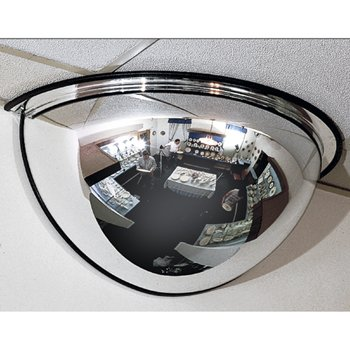 Safety Mirror, 18 in. Half Dome, SeeAll, 180 degree view, 150 sq (Half Dome Convex Mirror)