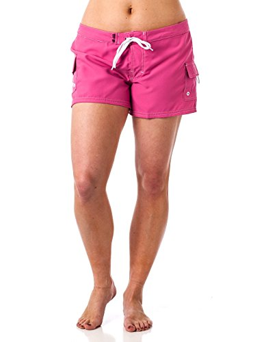 Young Women's Beach Rays BoardShort Swimwear Pink 11