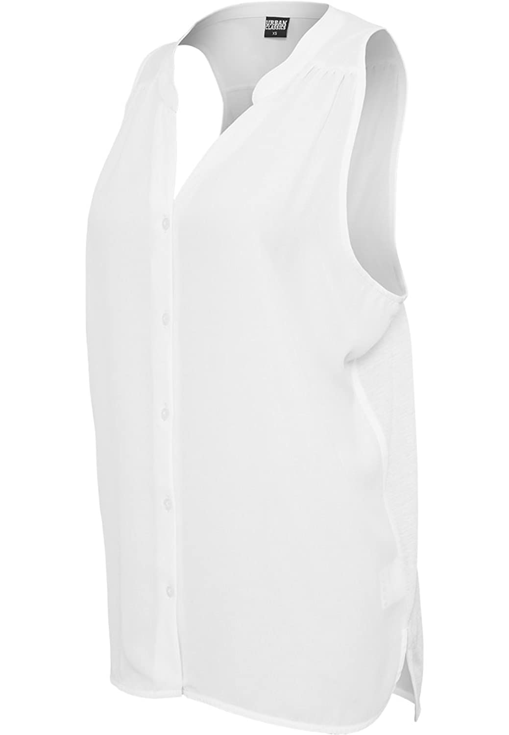 URBAN CLASSICS - Ladies Sleeveless Chiffon Blouse (offwhite)