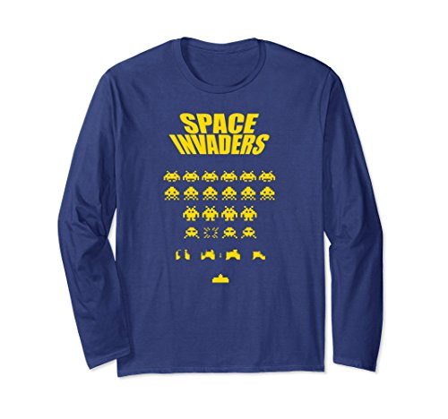 Unisex Space Invaders Long Sleeve Shirt - 5 colors - S to XXL