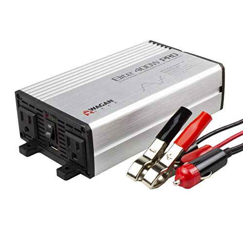 Wagan EL2610 Gray 400W Pro Pure Sine Wave Power Inverter