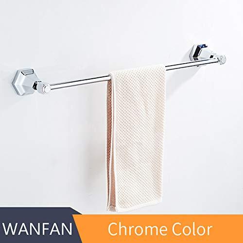 Aqua Brass Chrome Towel Bar - 6