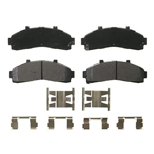 Wagner QuickStop ZX652 Semi-Metallic Disc Pad Set Includes Pad Installation Hardware, Front (Brake Pad B3000)