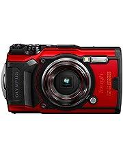 Olympus Tough TG-6 Digitalkamera (12 MP, 25-100mm 1: 2, 0 Objektiv, GPS, Manometer, Temperatursensor, Kompass) rot