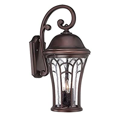 Highgate Collection Wall Lantern 3-Light Outdoor Architectural Bronze Light Fixt Model-39522ABZ