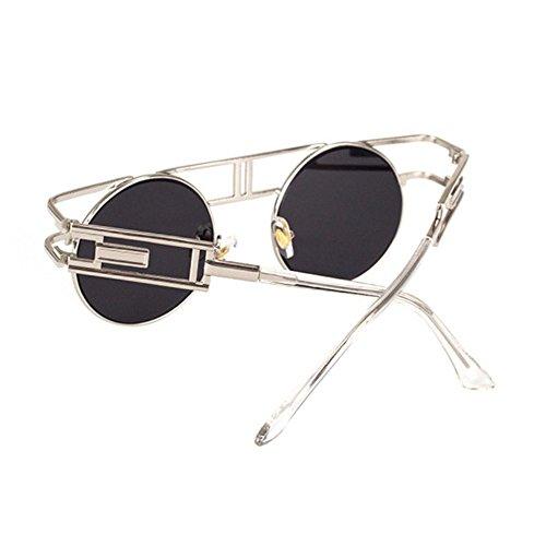 Gafas Gafas Regalos de Gafas Dama Sol de A Reflectante creativos Brillante góticos Hombre Retro de Sol Axiba Punk Retros CA8wqdd