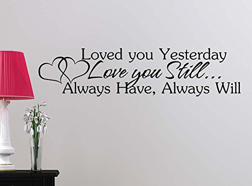Loved You Yesterday Love You Still Quote: Wall Decal Loved You Yesterday Love You Still Always Have
