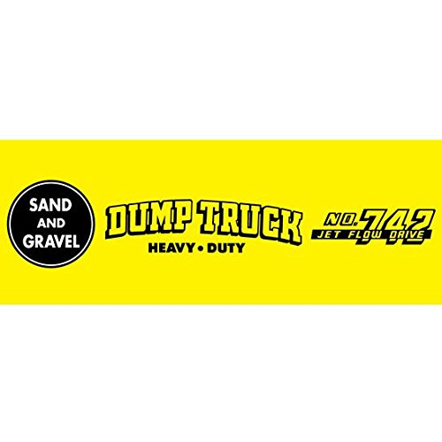 Murray Sad Face 1953-55 White Dump Truck Pedal Car Graphic (Murray 55)