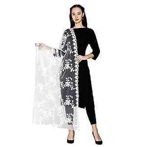 HARI MADHAV DESIGN Women's Nylon Net Embroidered Dupatta