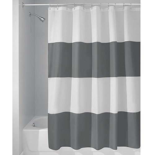 SUN-Shine Bold Stripe Extra Long Waterproof, Polyester Fabric Shower Curtain - for Bathroom Showers and Bathtubs - 72