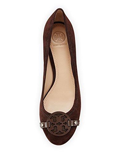 52477373386df 70%OFF Tory Burch Mini Miller 85MM Pump Heel Lancaster Suede Brown Coconut  Shoe Size