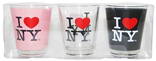 Love Shot Glass - I Love NY Shot Glass, 3 Piece