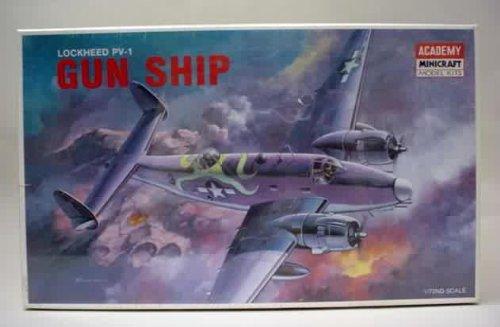 #1678 Academy/Minicraft Lockheed PV-1 Gun Ship 1/72 Scale Plastic Model Kit,Needs Assembly
