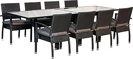 IB-Style - Salon de jardin MALAGA - chaise empilable | 2 ...