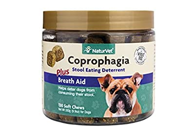 NaturVet 130 Count Coprophagia Soft Chew Bottle for Dogs from NaturVet