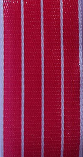 WebbingPro(TM) Red White Stripe Lawn Chair Webbing 3 Inches Wide 92 Feet Long Roll by WebbingPro®