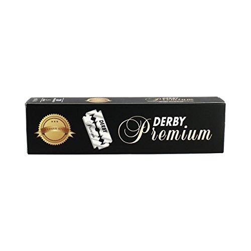 Derby Premium Double Edge Razor Blades, 100 Count (Edge Razor Premium)