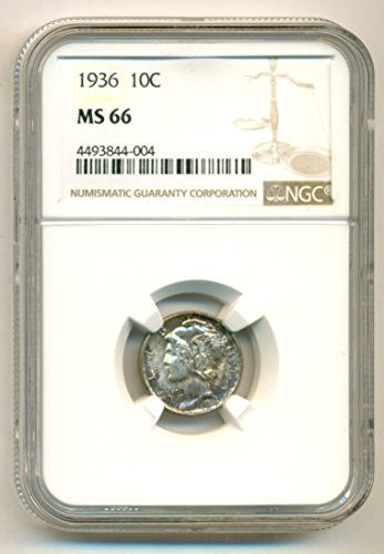 1936 Mercury Dime MS66 NGC