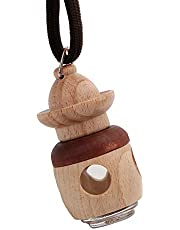 iTimo Car Rearview Mirror Hanging Perfume Empty Bottle, for Essential Oils Diffuser, Wooden Shell