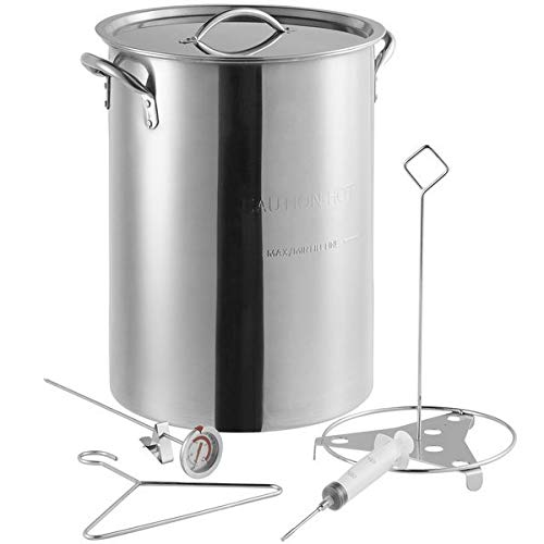 Backyard Pro Weekend Series 30 Qt. Stainless Steel Stock Pot/Turkey Fry Pot with Lid and Accessories by Backyard Pro