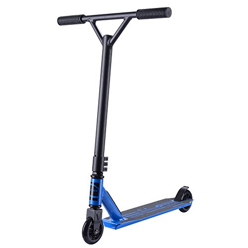 Sanview Freestyle Pro Stunt Scooter with Durable Frame and 100mm Wheels (Dark Blue)