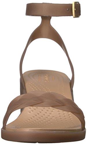 Heel Wedge Bronze Sandal Isabella Women's Gold Crocs Block BwaR8Uq8