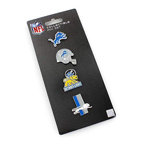 aminco NFL Detroit Lions Logo Evolution 4 Pin SetLogo Evolution 4 Pin Set, Team Color, 5