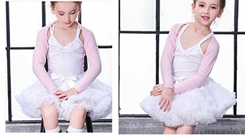 Buenos Ninos Girl's Solid Color Dance Tutu Pettiskirt White 7-8T/110 by Buenos Ninos (Image #2)