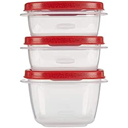 Rubbermaid Easy Find Lids Food Storage Containers, Racer Red, 6-Piece Set 1777165