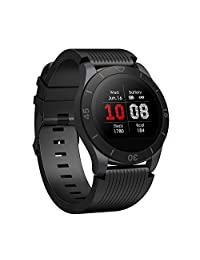 Smart Watch, IP68 Waterproof Smart Watch Fitness Tracker Watch with Heart Rate Blood Pressure Sleep Monitor, Smart Wristband with Pedometer Calorie Counter for iPhone and Android Smartphones (Black)