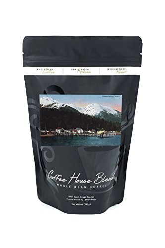 Town Docks (Tenakee Springs, Alaska - Town View with Docks (8oz Whole Bean Small Batch Artisan Coffee - Bold & Strong Medium Dark Roast w/ Artwork))