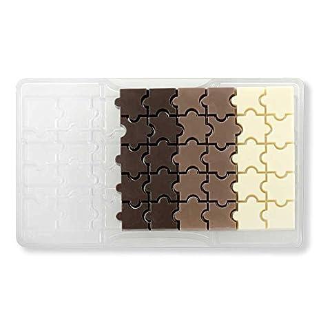 DECORA Molde Forma de Chocolate Puzzle, policarbonato, Transparente: Amazon.es: Hogar
